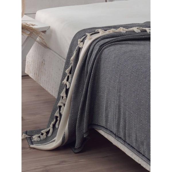 Přehoz přes postel Elmas Black, 200x240 cm