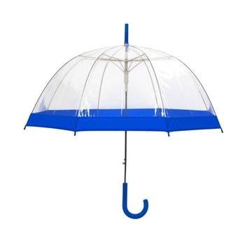 Umbrelă transparentă Ambiance Birdcage Border, ⌀85cm, detalii albastre imagine