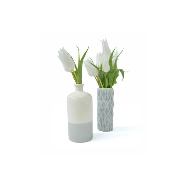 Béžovo-modrá váza Hawke&Thorn Parker