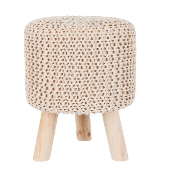 Stolička Knitted Cream