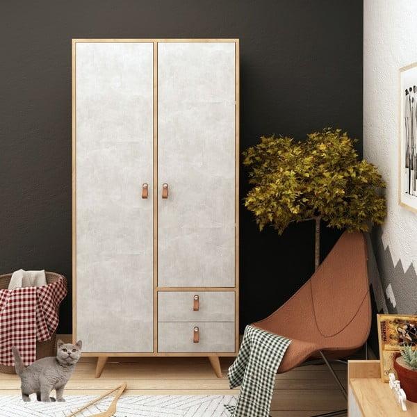 Šatní skříň s dveřmi v betonovém dekoru Suwon