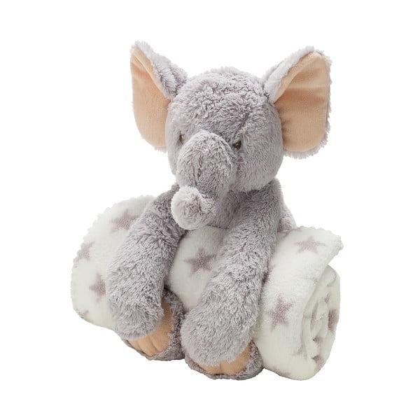 Plyšový sloník s dětskou dekou, 70x100 cm