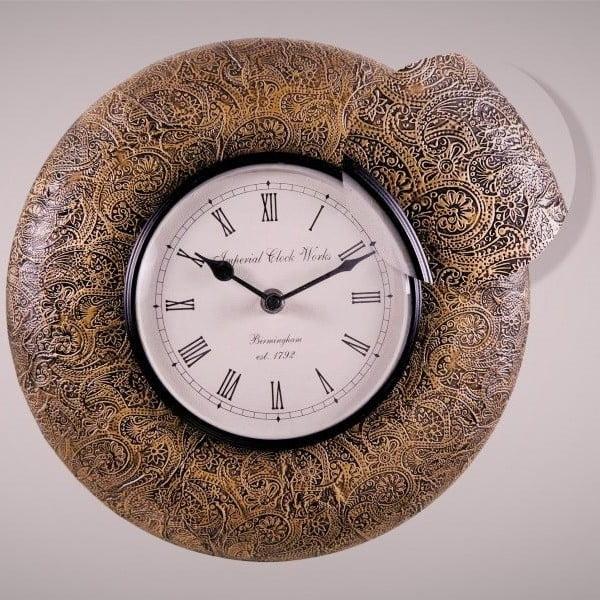 Nástěnné hodiny Jemný vzor