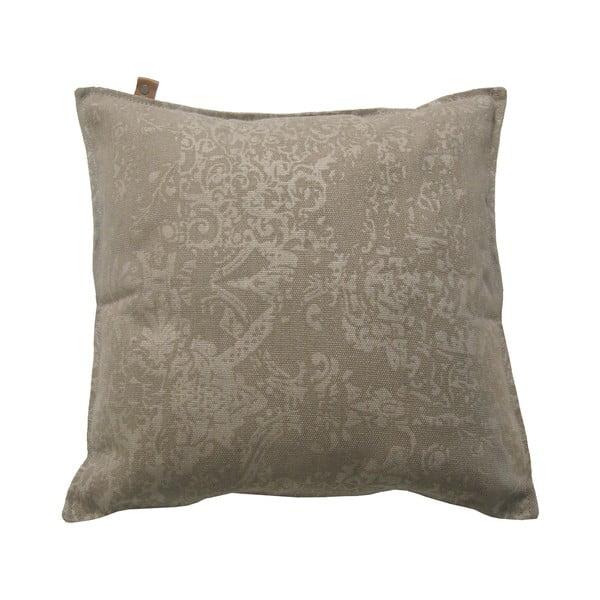 Hnědý polštář OVERSEAS Vintage,45x45cm
