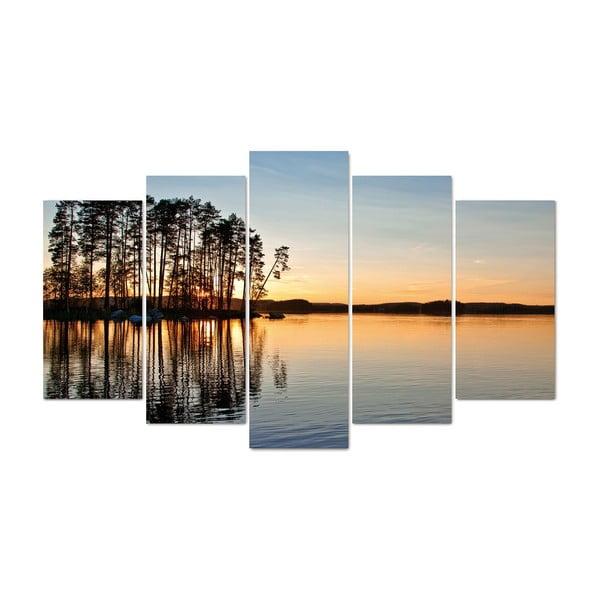 5dílný obraz Morning, 60x100 cm