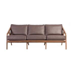 Canapea cu 3 locuri Charlie Pommier Serious, maro