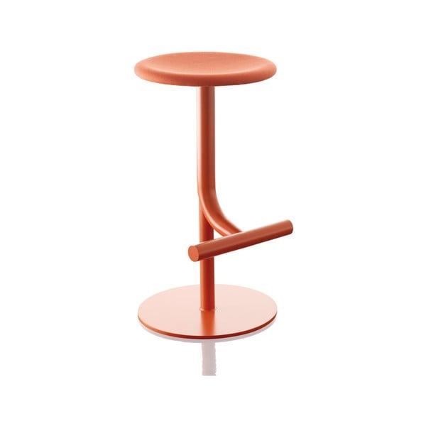 Červená barová židle Magis Tibu, výška60/77cm