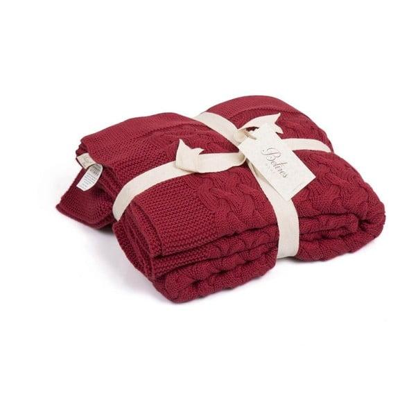 Červená deka Harmony, 130 x 170 cm
