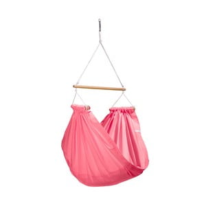 Růžové houpadlo z bavlny se zavěšením do stropu Hojdavak Junior (3až10 let)