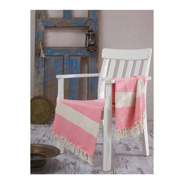 Hammam osuška Elmas Pink, 100x180 cm