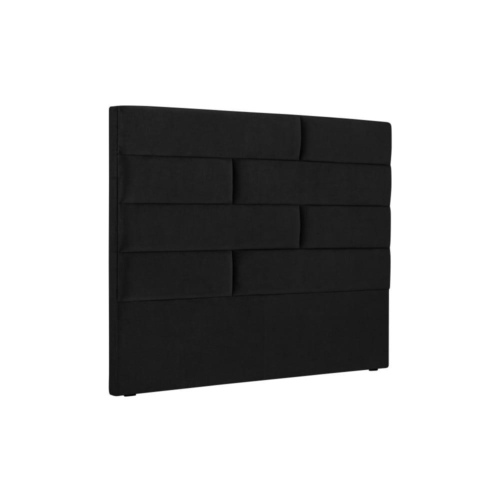 Černé čelo postele Cosmopolitan Design New York, šířka 140 cm