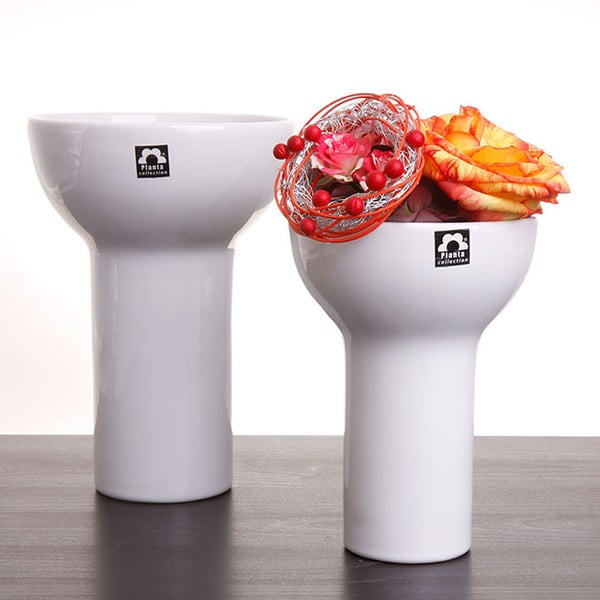 Váza Odet 25 cm, bílá