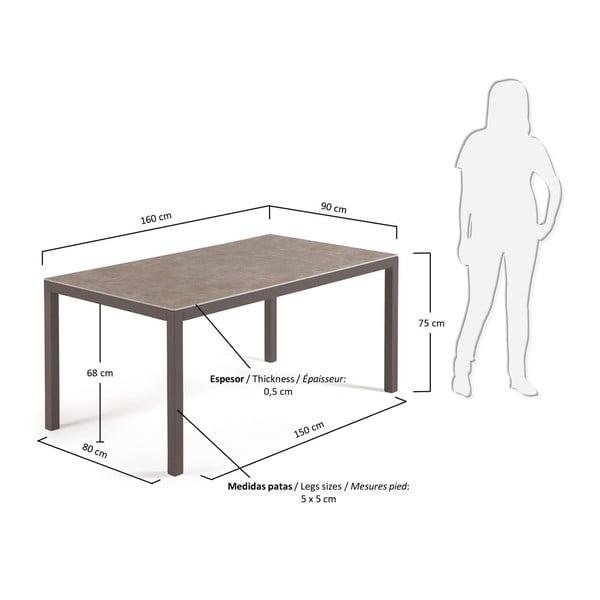 Dřevěný stůl La Forma Bogen,160x90cm