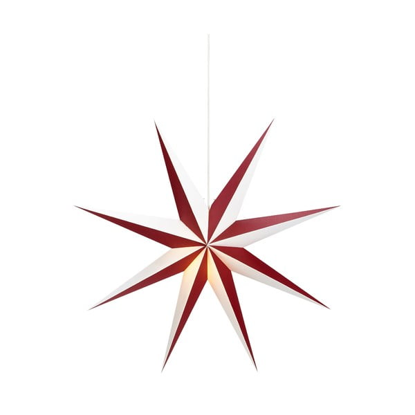 Červeno-bílá závěsná světelená dekorace Markslöjd Saturnus, ø75cm