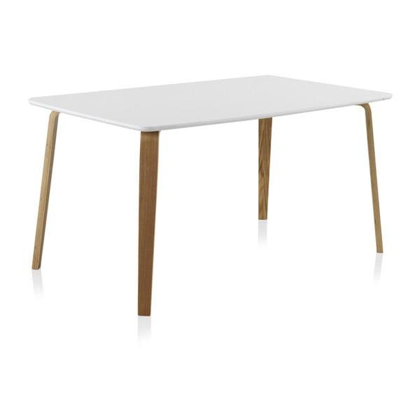 Bílý jídelní stůl Geese, 150 x 90 cm