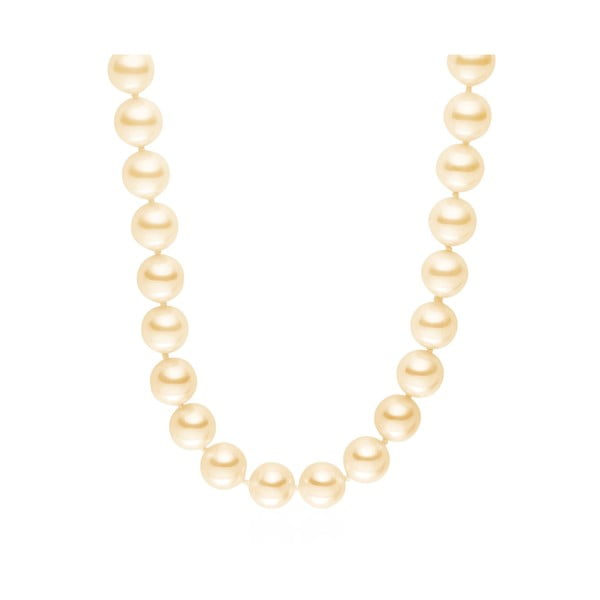 Světle oranžový perlový náhrdelník Mystic Light Orange, 80 cm