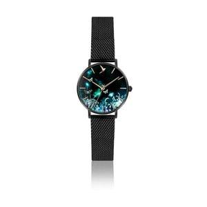 Dámské hodinky s páskem z nerezové oceli v černé barvě Emily Westwood Forest