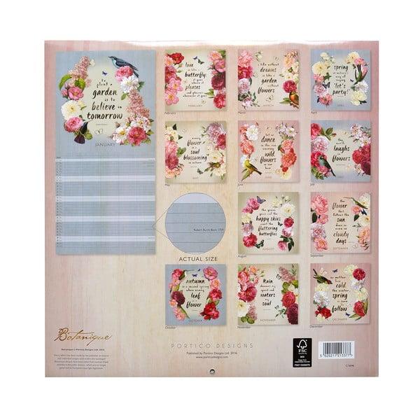 Rodinný kalendář Portico Designs Botanique SQ