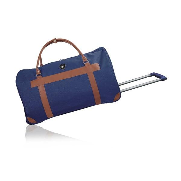 Niebieska torba podróżna na kółkach GENTLEMAN FARMER Oslo, 63 l