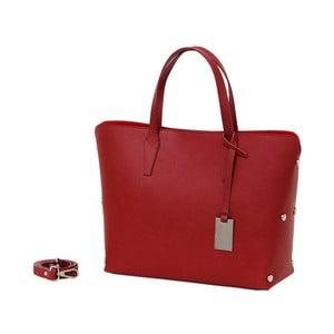 Červená kabelka z pravé kůže Andrea Cardone Dettalgio