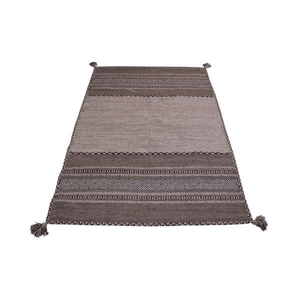 Šedo-béžový bavlněný koberec Webtappeti Antique Kilim, 120 x 180 cm