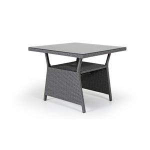 Šedý zahradní stolek se skleněnou deskou Brafab Soho, 86x86cm
