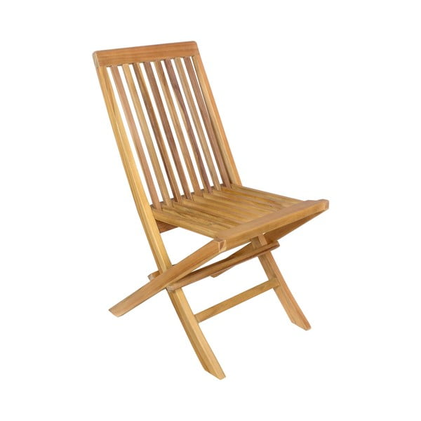 Set 2 scaune pliabile de grădină din lemn de tec Ezeis Sun
