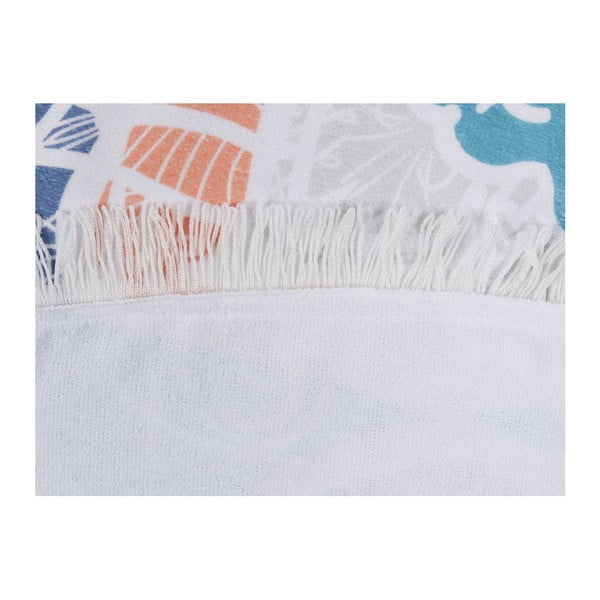 Barevná plážová osuška z bavlny Sun, ⌀ 150 cm