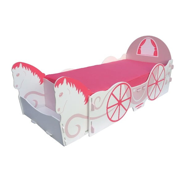 Dětská postel Princess Carriage Single, 238x101,5x100 cm