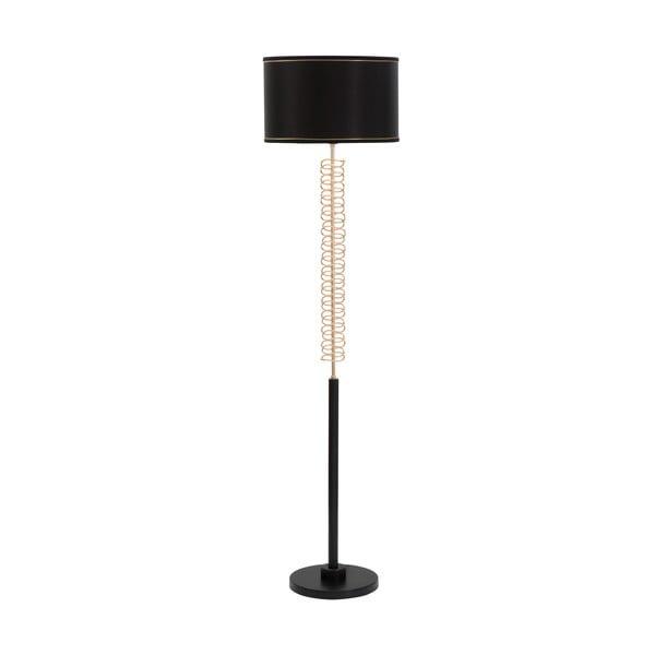 Czarna lampa stojąca Mauro Ferretti Twist