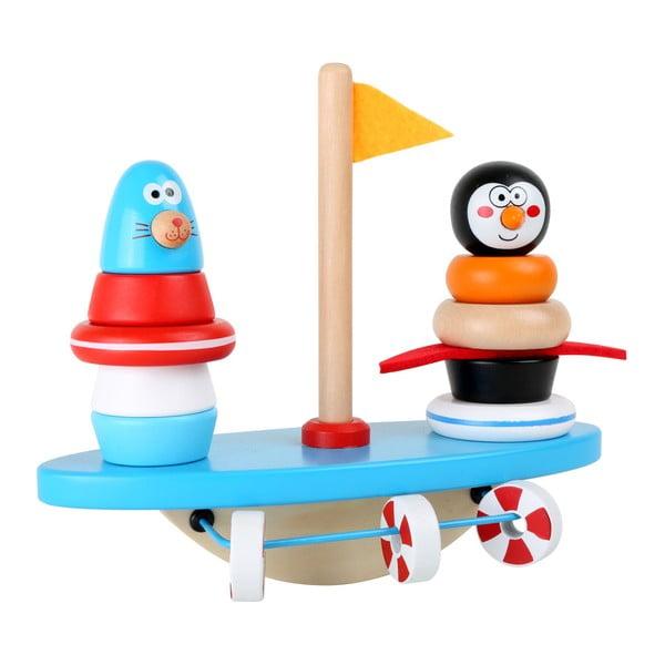 Jucărie educativă din lemn Legler Puzzle