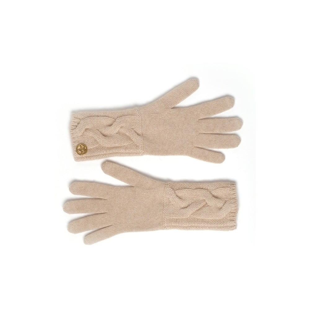 Béžové kašmírové rukavice Bel cashmere Lela  f3a6a75cbb