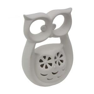 Bílá porcelánová dekorativní soška Mauro Ferretti Gufo Kid, výška 18 cm