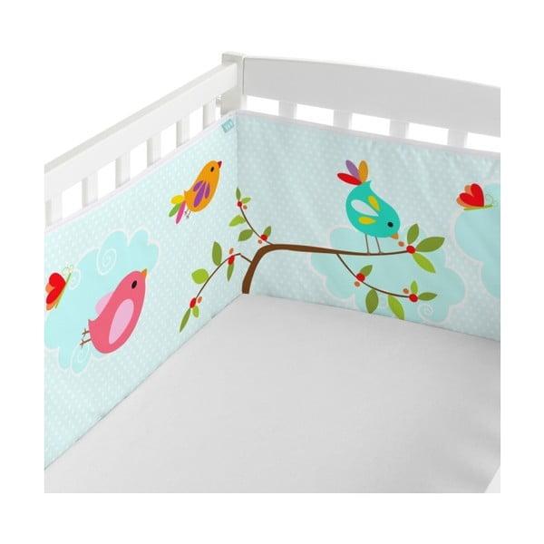 Textilní ohrádka na postýlku Little W Happy Spring, 60x60 cm