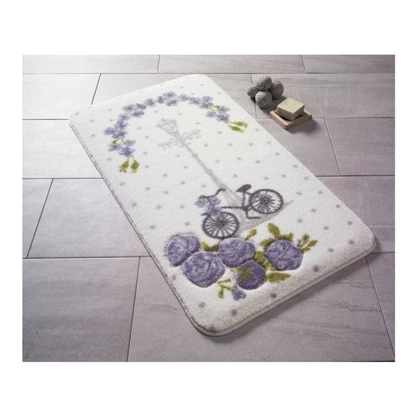 Covoraș de baie Confetti Bathmats Sweet Vintage Bike, 80 x 140 cm, violet