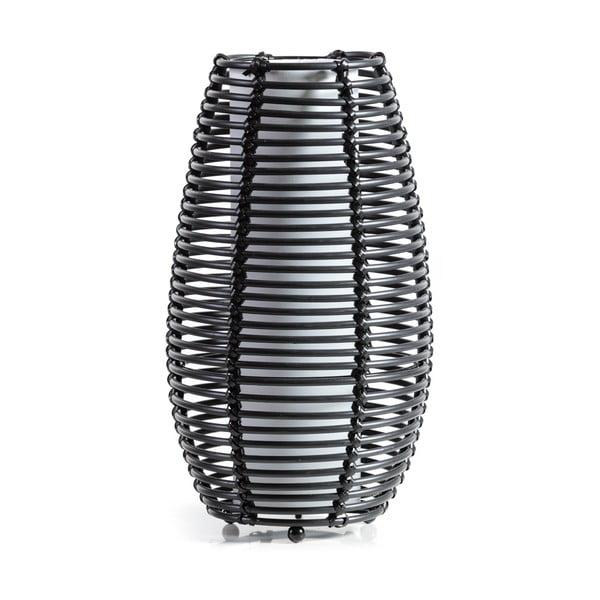Černá stolní lampa z ratanu ETH Cocoon