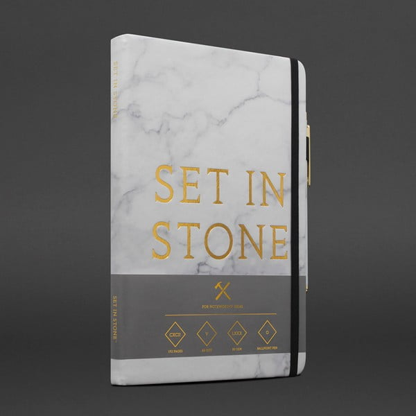 Set agendă și accesorii papetărie Luckies of London Set In Stone