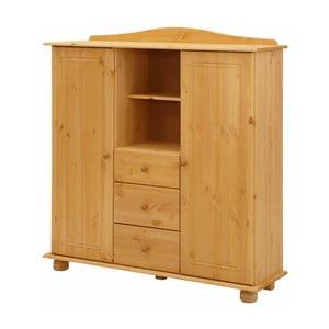 Hnědá dřevěná skříň Støraa Ella