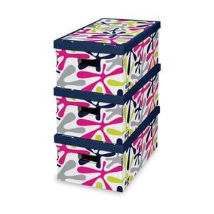 Sada 3 úložných boxů Domopak Stain