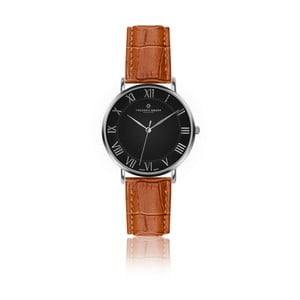 Pánské hodinky s koňakově hnědým páskem z pravé kůže Frederic Graff Silver Dom Croco Ginger