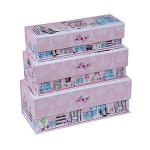 Sada 3 krabiček Tri-Coastal Design Trés Chic