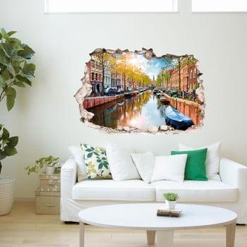Autocolant 3D pentru perete Ambiance Amstel River in Amsterdam