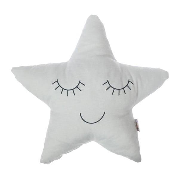 Pernă din amestec de bumbac pentru copii Apolena Pillow Toy Star, 35 x 35 cm, gri deschis