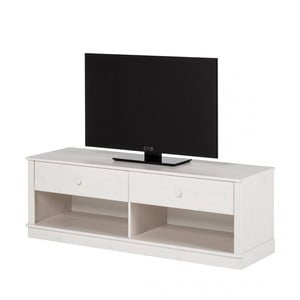 Bílá TV komoda z borovicového dřeva Støraa Annabelle
