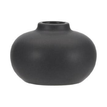 Suport din ceramică pentru lumânare A Simple Mess Telma, ⌀ 8,5 cm, negru de la A Simple Mess