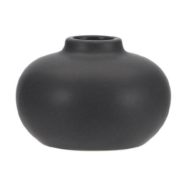 Telma fekete agyagkerámia gyertyatartó, ⌀ 8,5cm - ASimple Mess