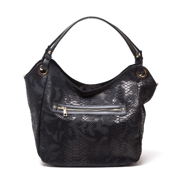 Kožená kabelka Amedea, černá