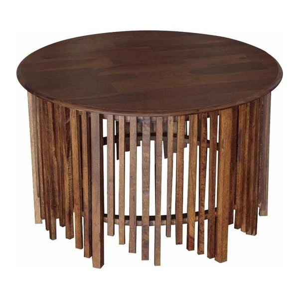 Konferenční stolek z mangového dřeva Støraa Rubina,Ø90cm