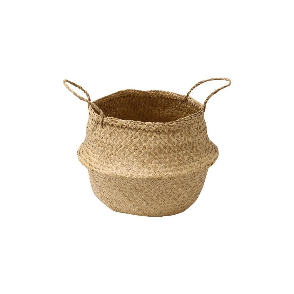 Úložný košík z mořské trávy Compactor, ⌀ 35 cm