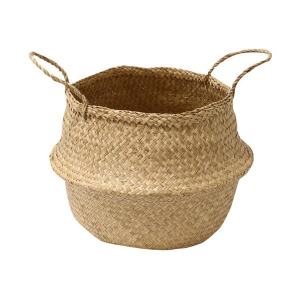 Úložný košík z morskej trávy Compactor, ⌀ 35 cm